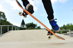 Skateboarding at city Royalty Free Stock Photos
