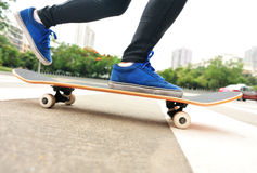 Skateboarding at city Royalty Free Stock Photos