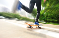 Skateboarding at city Royalty Free Stock Images