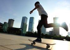 Skateboarding at city Stock Image