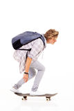 Skateboarding d'adolescent Images stock