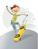 Skateboarding de gosse Photographie stock libre de droits