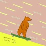 Skateboarding dell'orso Fotografia Stock Libera da Diritti