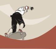 Skateboarding do homem novo Fotografia de Stock