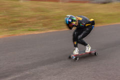 SkateBoarding DownHill SpeedBlur Stock Image