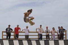 "Skateboarding. Event: Adidas Skateboarding & Thrasher Magazine Pro-invitational ""Hell of a Paradise"" Y-ramp 21.IV.18 n Location: Duke Kahanamoku Beach Royalty Free Stock Photo"