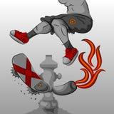 Skateboarding extremo stock de ilustración