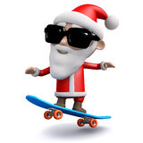 skateboarding för 3d Santa Claus stock illustrationer