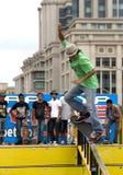 Skateboarding (Geländer-) Tätigkeit Lizenzfreie Stockfotos