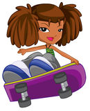 Skateboarding girl Stock Photography
