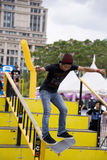 Skateboarding (Handrail) Action Royalty Free Stock Photography