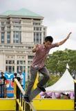 Skateboarding (Handrail) Action Stock Images