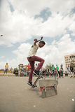 Skateboarding i Addis Arkivfoton