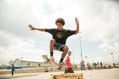 Skateboarding i Addis Royaltyfri Fotografi