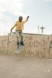 Skateboarding i Addis Royaltyfria Bilder