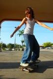 Skateboarding Kid Stock Image