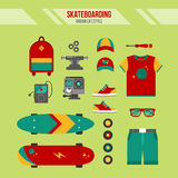 Skateboarding Kit. Urban Lifestyle Royalty Free Stock Image