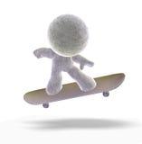 Skateboarding Mann 3D Lizenzfreie Stockbilder