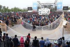 Skateboarding match royalty free stock image