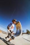 Boy Skateboarding Stock Images