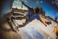 kid Skateboarding royalty free stock image
