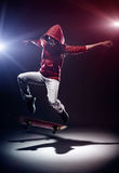 Skateboarding move Stock Images