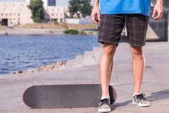 Skateboarding is not for everyone Stock Photography
