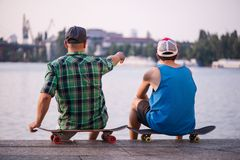 Skateboarding is not for everyone Royalty Free Stock Photos