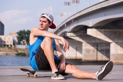 Skateboarding is not for everyone Royalty Free Stock Images