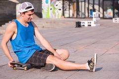 Skateboarding is not for everyone Royalty Free Stock Image