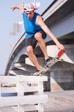 Skateboarding is not for everyone Stock Photos