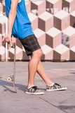 Skateboarding is not for everyone Royalty Free Stock Photography