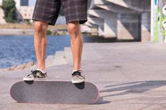 Skateboarding is not for everyone Royalty Free Stock Photo