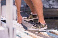 Skateboarding is not for everyone Stock Photo