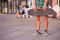 Skateboarding is not for everyone Stock Images