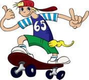 Skateboarding novo do menino Fotos de Stock Royalty Free