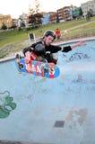 Skateboarding på den Bondi stranden Sydney Royaltyfria Foton