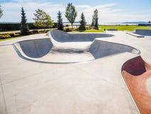 Skateboarding parkerar på havkusten Royaltyfri Bild