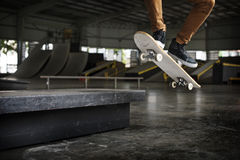 Skateboarding Practice Freestyle Extreme Sports Concept Stock Images