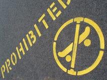 Skateboarding prohibido Fotos de archivo libres de regalías