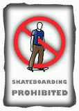 Skateboarding proibito Fotografia Stock Libera da Diritti
