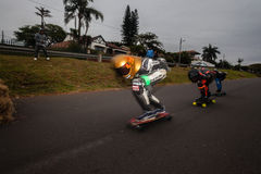 SkateBoarding Racing Street Course Stock Photos