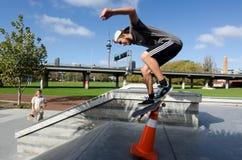 Skateboarding - recreação e esporte Foto de Stock Royalty Free