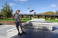 Skateboarding - recreação e esporte Fotografia de Stock Royalty Free