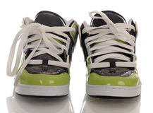 Skateboarding shoes Stock Photos