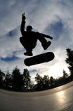 Skateboarding silhouette Stock Photos
