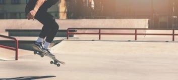 Free Skateboarding - Skateboarder Doing Trick Jumping At City Skate Park Royalty Free Stock Photos - 147204638
