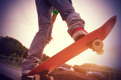 Skateboarding at skatepark Royalty Free Stock Photos