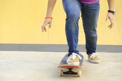Skateboarding at skatepark Stock Photography