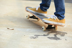 Skateboarding at skatepark Royalty Free Stock Photography